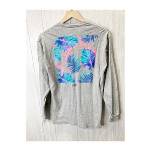Pink Tropical Long Sleeve Top XS